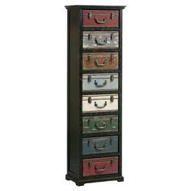 Add rustic charm with this chest, featuring 8 drawers. Use to store toiletries in your bathroom or BOYS bedroom.