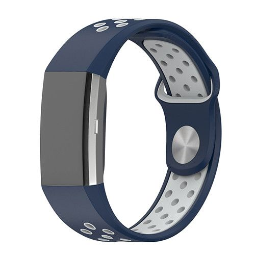 Dual Color Adjustable Silicone Sport Strap For Fitbit Charge 2 Smart Wristbands