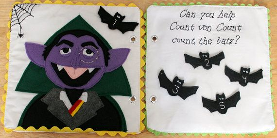 Count Von Count Sesame Street Counting Bats Quiet Book Pattern