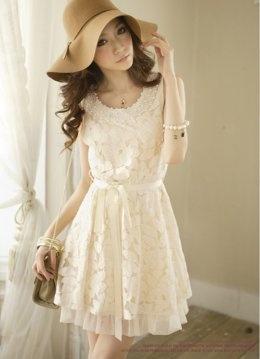 lace dress, cute hat.: Fashion, Style, Clothing, Dream Closet, White Dress, Wear, Lace Dresses