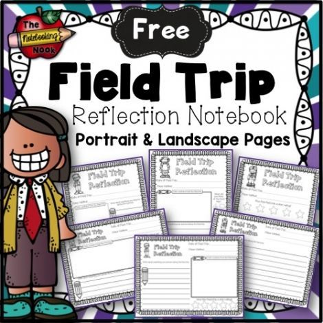 FREE FIELD TRIP REFLECTION NOTEBOOK! Enjoy this free notebook with pages for your students to write, draw pictures and rate their field trips from sponsor @educents! #afflink #homeschoolfreebies #notebooking
