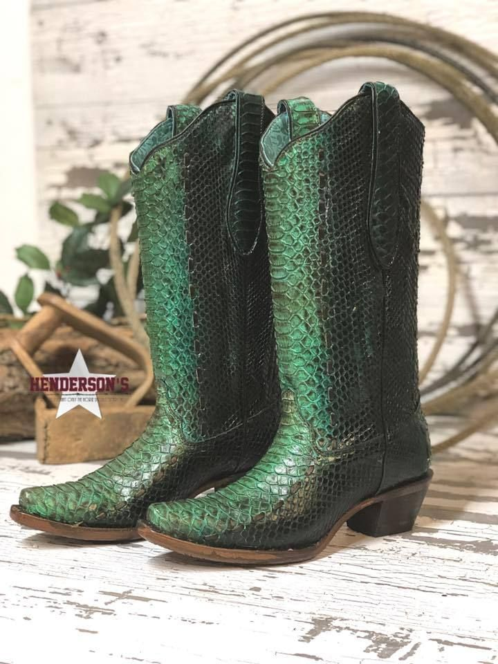 teal corral boots