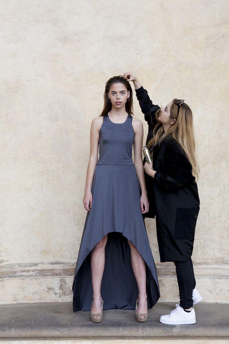 Czech designer Denisa Dovala for ALAE, backstage