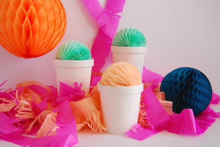 Tissue Ball Ice Cream Cartons {The Proper Pinwheel for Shop Sweet Lulu}
