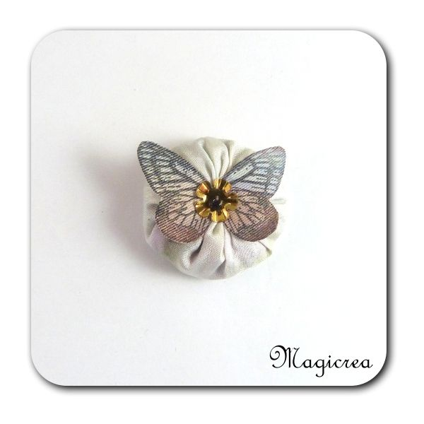 FLEUR PAPILLON SOIE - LAVANDE - FP5 - Boutique www.magicreation.fr