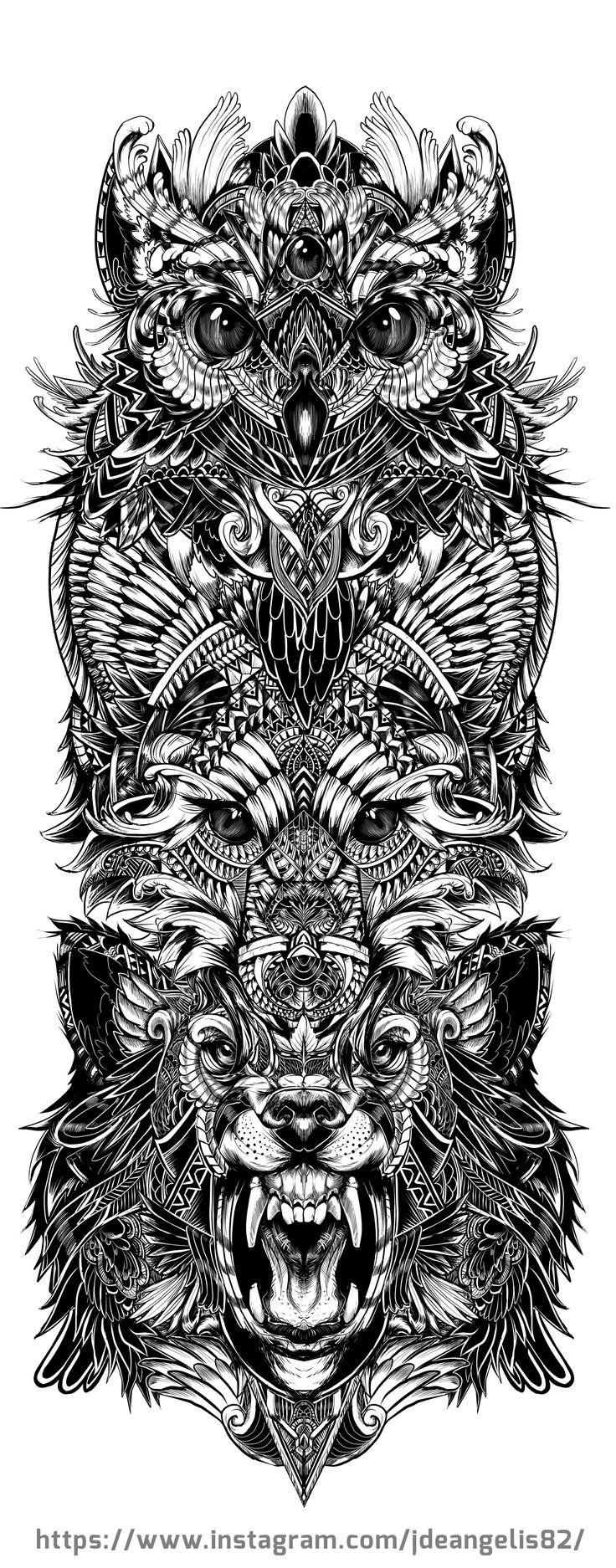 Animal totem by Jdeangelis82  instagram.com/jdeangelis82