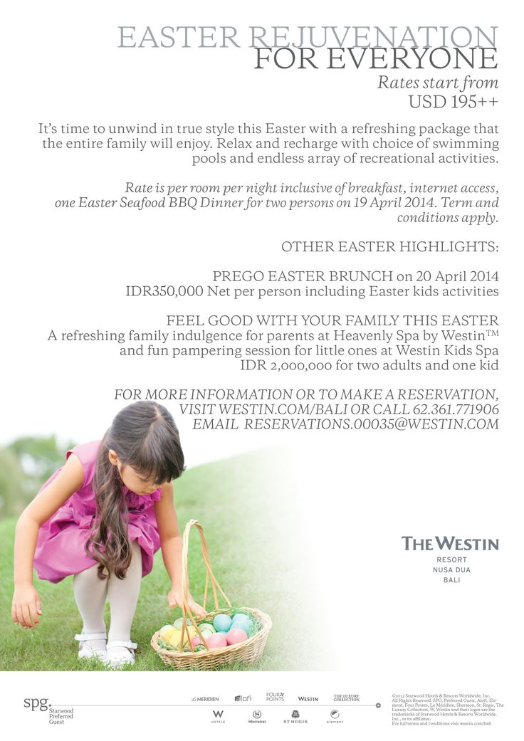 It's time to unwind in true style this Easter with a refreshing package that the entire family will enjoy.