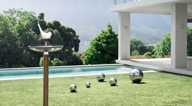 Fuera Bird Feeder/Birdbath contemporary bird feeders