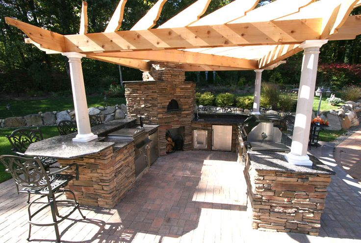 Pinterest the world s catalog of ideas for Outdoor kitchen designs with pergolas