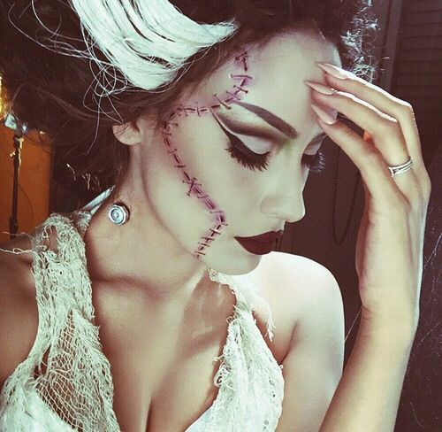 Beauty bride of #Frankenstein #halloween #makeup