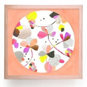 Sweet Peachy Colourful Floral Art Print. Buy art print online in Australia and Worldwide from Everything Begins