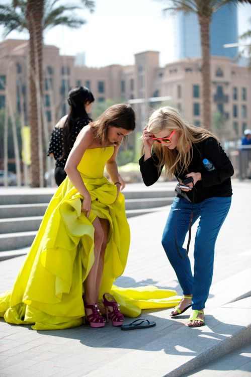 style in shocking yellow