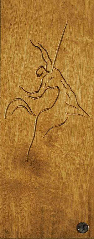 DrevoDesigns - Chiron centaur -Iroko wood