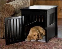 Dog Crate Furniture / Solid Wood Crate Furniture -- Orvis