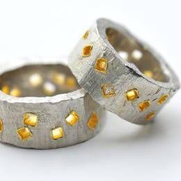 Daumenringe, 925/Silber, Feingold, Princess-Diamant