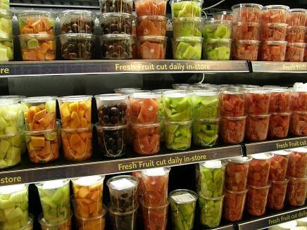 Fruta fresca envasada