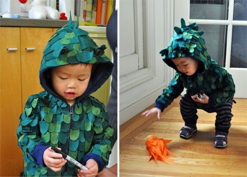 Homemade Zilla Costume by momincdaily: So cute! #Godzilla_Costume #momindaily #Hallowen