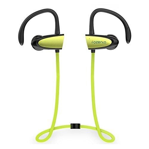 Chamfind Bluetooth Headphones Wireless Earbuds Bluetooth V4.2 Stereo Earphones IPX5 Waterproof Sports Neckband Headset With Mic Bass Noise Reducing for Gym Running(Green) - Fozento