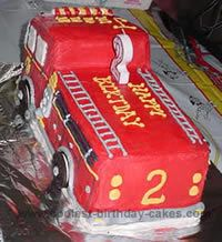Fire Truck Cake Photo-Ians 2nd bday
