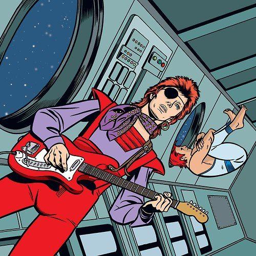 Resultado de imagen de comic de david bowie en español