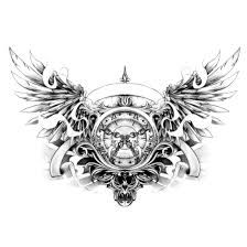 Znalezione obrazy dla zapytania tatuaże zegar