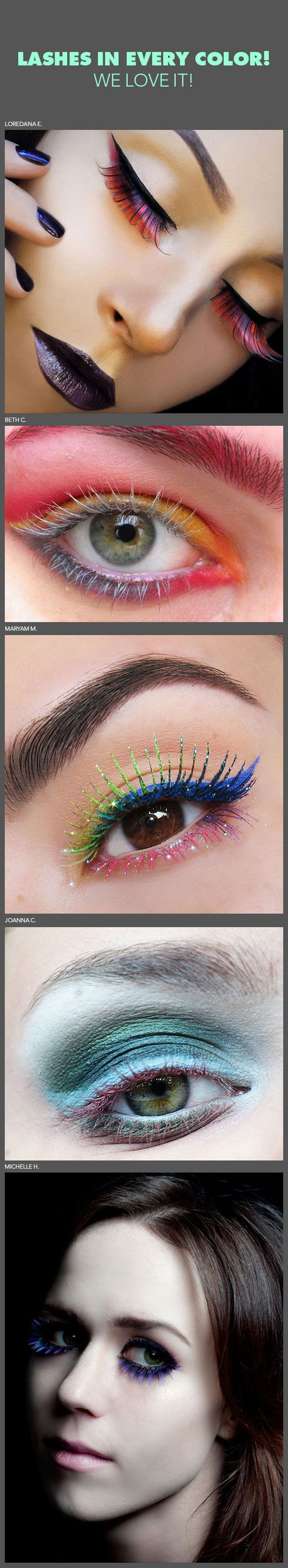 Lashes In Every Color! We Love It!