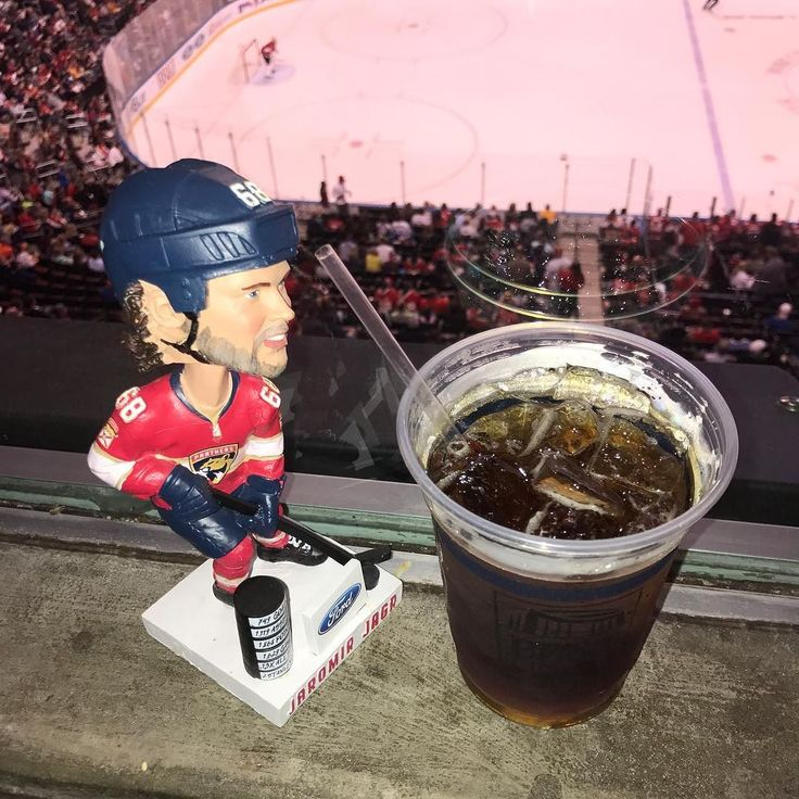 Jagr bobble head is a bit nervous because he is hoping  to meet the real Jagr at the season tickets holder fan meet up after the game. #Hockey #nhl #Panthers #jagr #jagr750goals @flapanthers