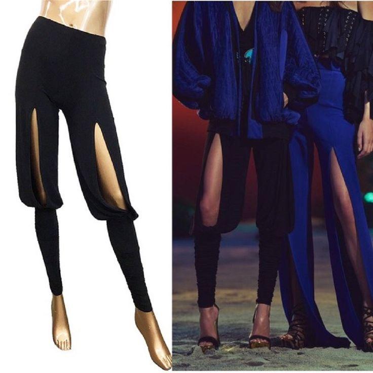 Front Thigh Slits Balmain Pants