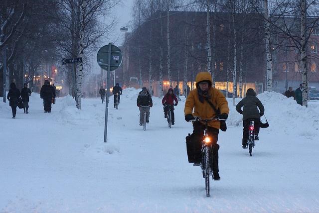 Umeå (2) by MaximeF, via Flickr: winter cycling!