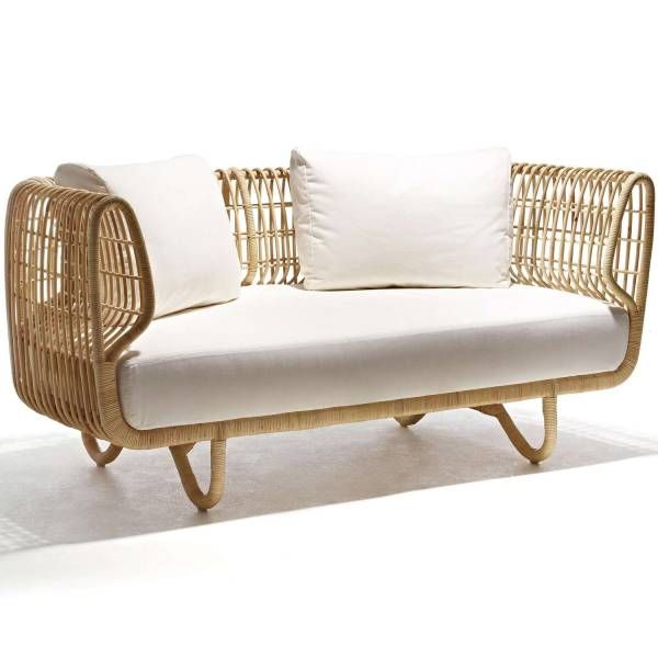 Nest Sofa By Cane Line Its Thyme Outdoor Furniture Rattan Furniture Indoor Furniture Wicker Furniture