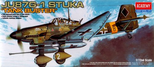 "Junkers Ju-87G-1 Stuka ""Tank Buster"". Academy, 1/72, injection, No.12450. Price: 7,43 GBP."