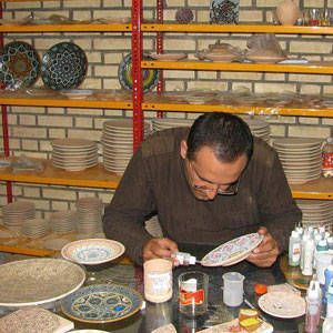 A potter in Lalejin, Iran continues the city's proud tradition in ceramics.