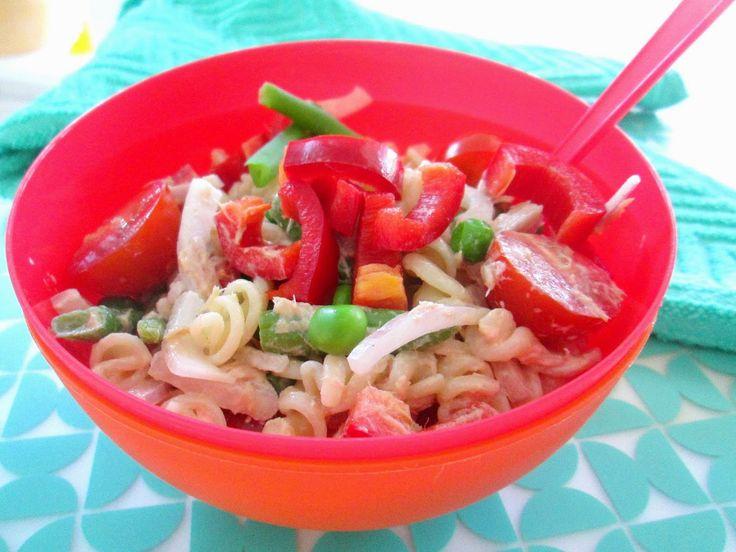 Koude pasta salade   -  in 10 minuten klaar