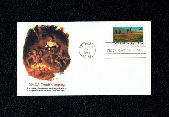 US 2160 International Youth Year: YMCA Oct 7 1985 Chicago IL First Day Cover  Scott's US 2160 FDC  F #usstamps #firstdaycovers #freeshippingusa