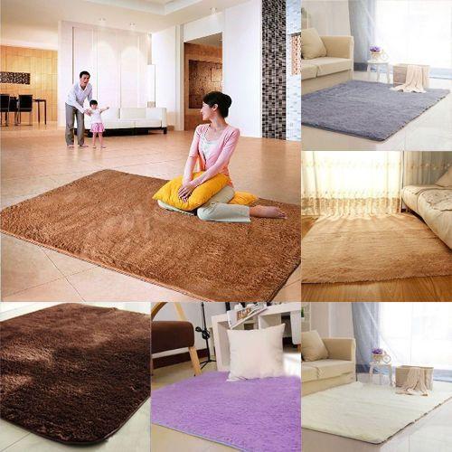 Soft Shower Floor Mat Absorbent Memory Foam Rug Non Slip Bath Bathroom  Carpet