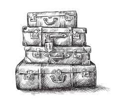 Afbeeldingsresultaat voor reiskoffer tekening