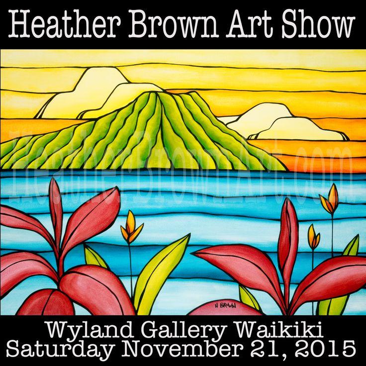 Im releasing a brand new series of work at The Wyland Gallery in Waikiki Nov. 21, 2015! The Daydream Series! Find out more at HeatherBrownArt.com #heatherbrown #surfart #waikiki #diamondhead #hawaii #fineart #orignalart #aloha