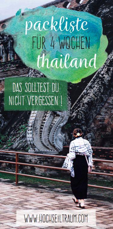 Praktisch packen – 4 Wochen Thailand mit dem Backpack