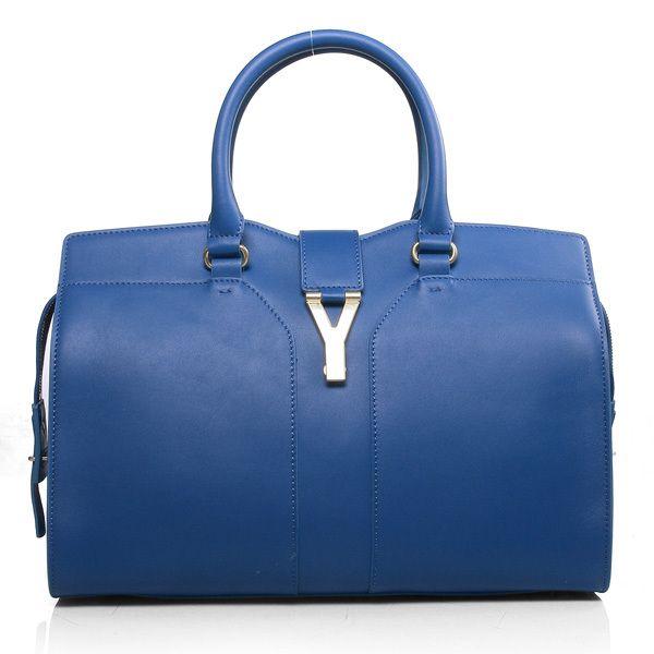 Yves Saint Laurent Cabas Chyc Bag Large 279079 Blue Ysl Outlet Model