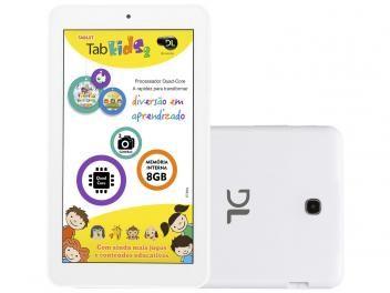 """Tablet DL Tab Kids 8GB Tela 7"""" Wi-Fi Android 5.1 - Proc. Quad-Core Câm. 2MP + Frontal 0.3MP"""