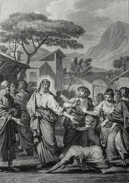 Luke in the Phillip Medhurst Collection 433 The Samaritan leper returns to give thanks Luke 17:15-16 Moreau on Flickr. A print from the Phillip Medhurst Collection of Bible illustrations, published by Revd. Philip De Vere at St. George's Court,...