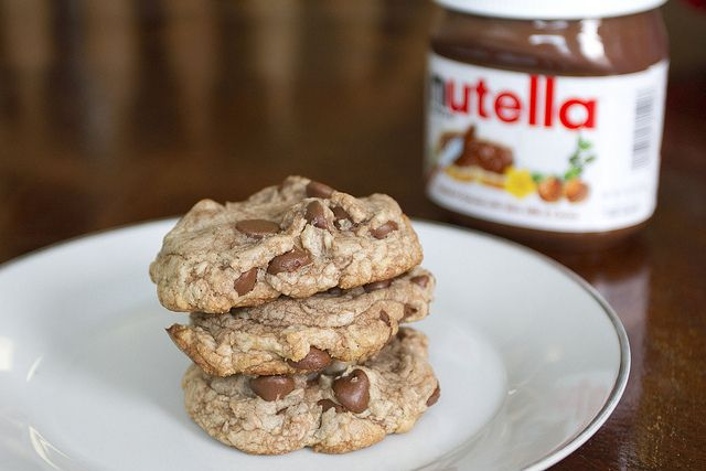 Nutella Chocolate Chip Cookies - Yummy!! (I added vanilla chips, which ...