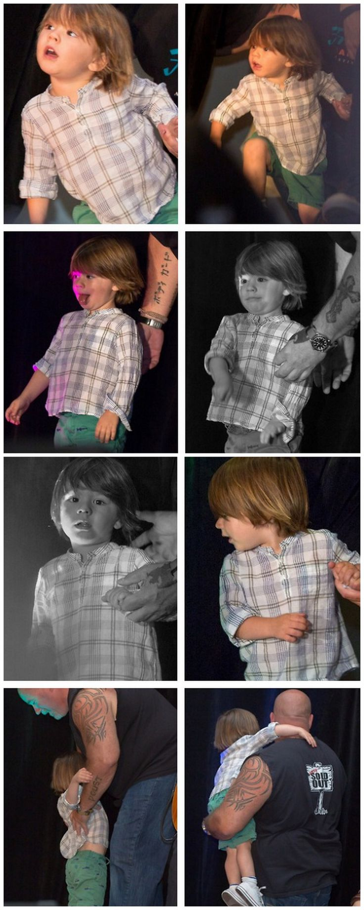 Tom and his tongue LOL ... To much adorableness! Thomas with Clif during J2's panel at VanCon 2014