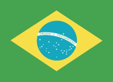 15 Important Facts About Brazil: The Brazil flag is green with a yellow diamond bearing a blue globe with 27 white stars (one for each state and the Federal District) in the pattern of the night sky over Brazil; a white band with the motto ORDEM E PROGRESSO (Order and Progress).