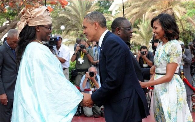 #44thPresident #BarackObama and #FirstLady #MichelleObama were greeted by Senegal's #President #MackySall and his wife, Marieme Faye, at the Presidential Palace in #Dakar. June 2013 #ObamaLibrary #ObamaFoundation #ObamaLegacy Obama.org