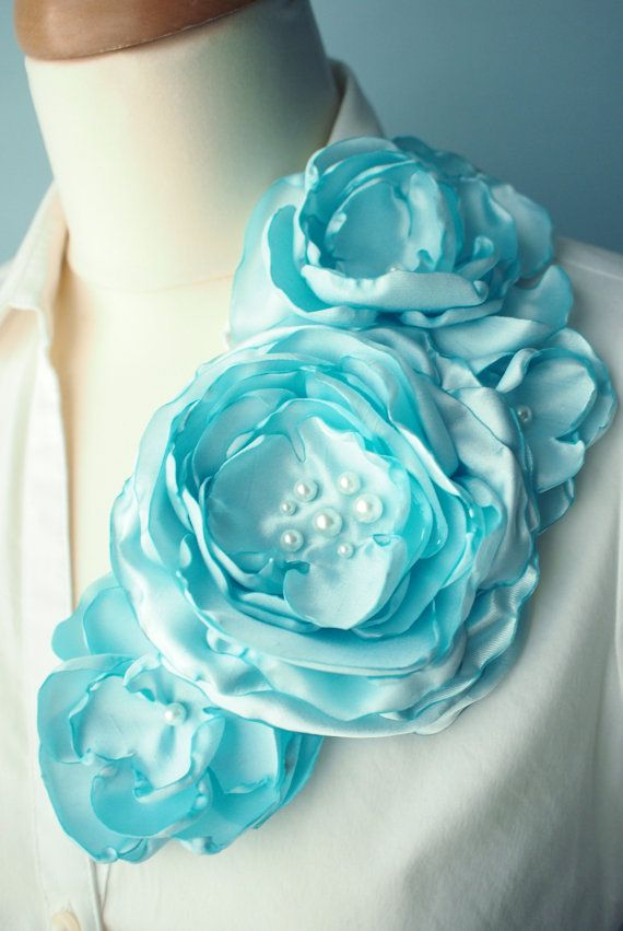 Corsage brooch instead of flowers for Mother of the bride, groom, or for Mother's Day! in Tiffany turquoise blue