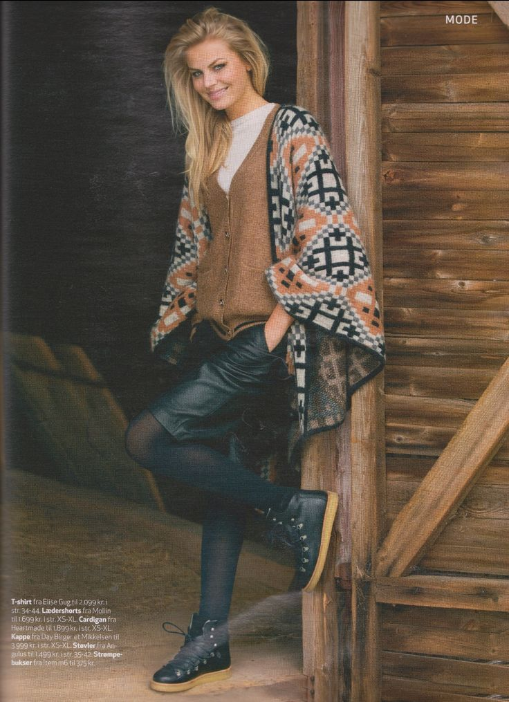 Our basic essential wool and silk sweater shown in Femina week 35