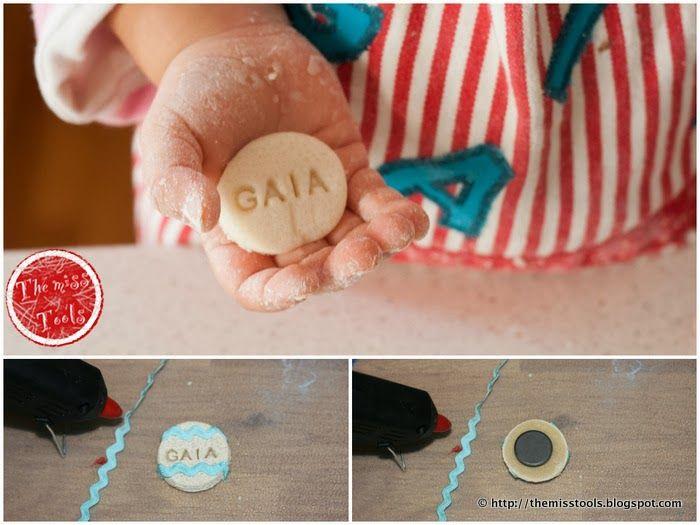 Biscotti 'Magnetici' , Pasta di Sale,  Salt dough, 'magnetic' cookies, attività  bambini, Magneti e ornamenti in pasta di sale