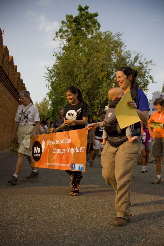 We Women Foundation sets off on their charity walk to raise money for the Burmese women living in northern Thailand.
