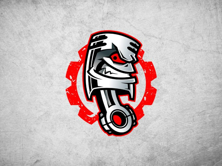 Piston logo mascot by Josip